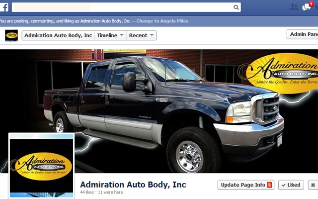 Facebook - Admiration Auto Body