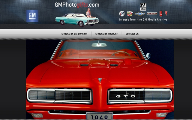 GM Photo Gifts Website