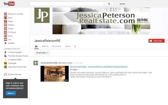 YouTube - Jessica Peterson