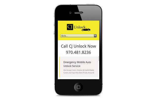 Mobile Websites - CJ Locksmith