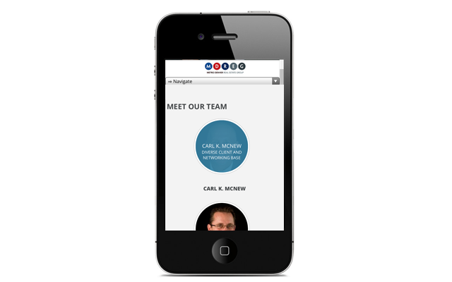 Mobile Website - Metro Denver Real Estate Group