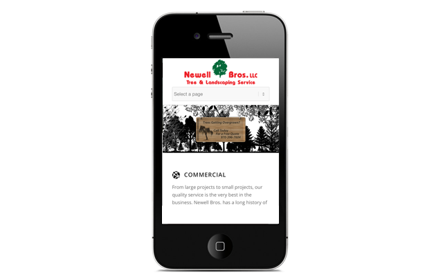 Mobile Websites - Newell Bros Tree Service
