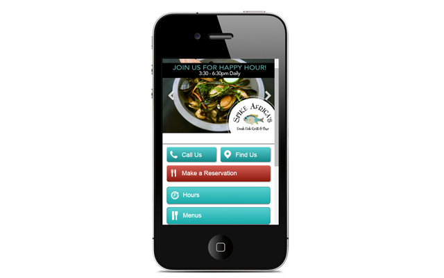 Mobile Website - Spike Africa's Fresh Fish Grill & Bar