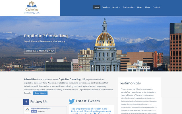 Capitoline Consulting LLC Website